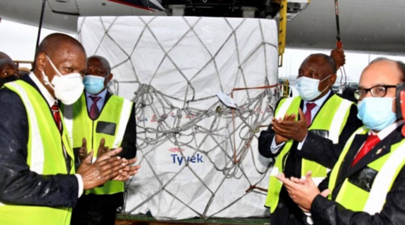 Covid-19 vaccinations arrive in South Africa,  protected by DuPont™ Tyvek® Cargo Covers